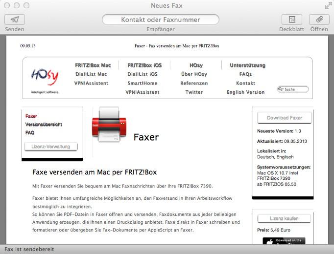 Faxer Im Test Faxe Versenden Unter Macos Tekshreks Blog