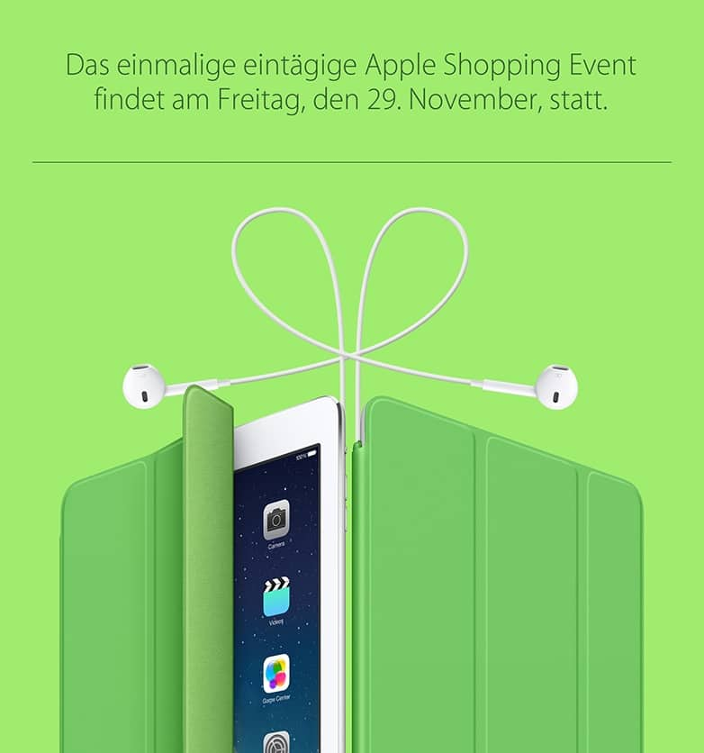 Black Friday 2013 auch bei Apple