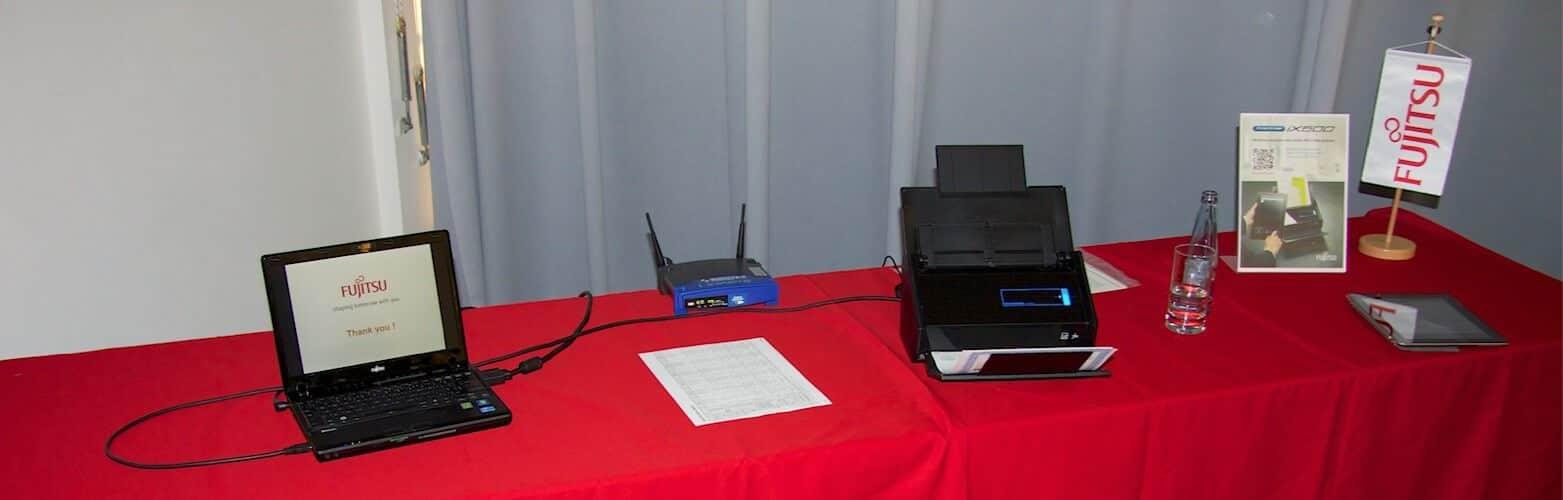 Fujitsu ScanSnap iX500 auf der CeBIT