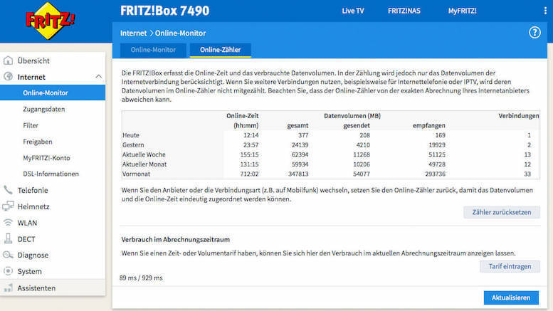 FRITZ!Box Online-Monitor