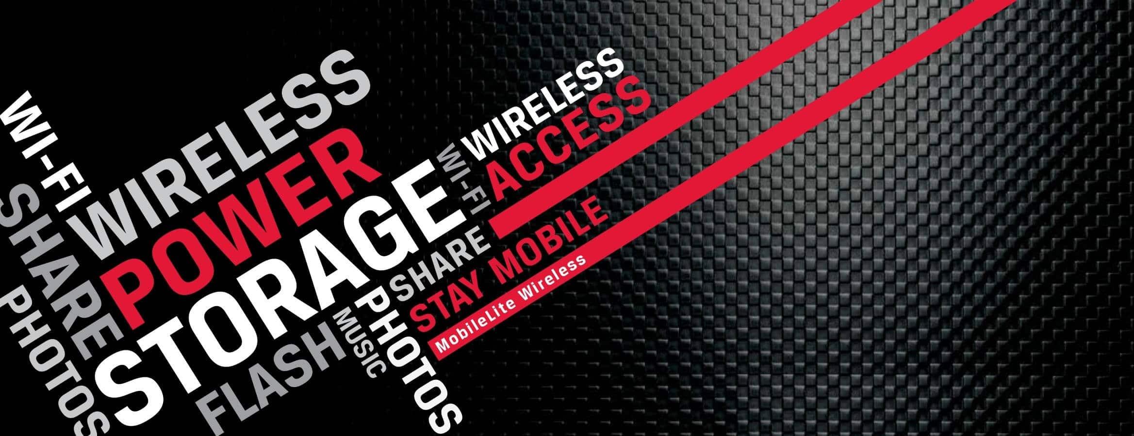 MobileLite Wireless: Flashspeicher und Akkuladegerät