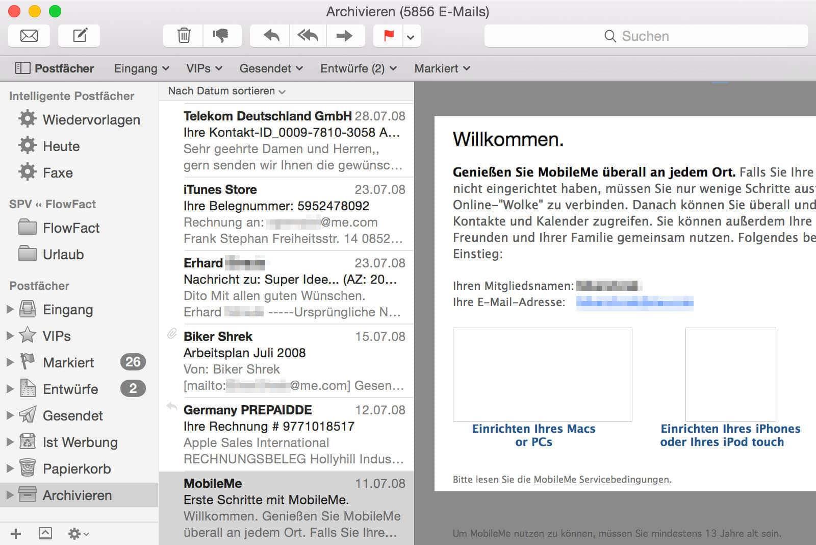 E-Mail-Archiv unter OS X
