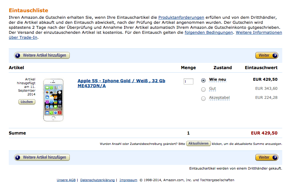 amazon iphone trade in trade in service f 252 r elektronik produkte 13388