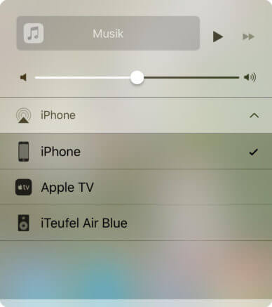 iTeufel Air Blue mit Apple Airplay