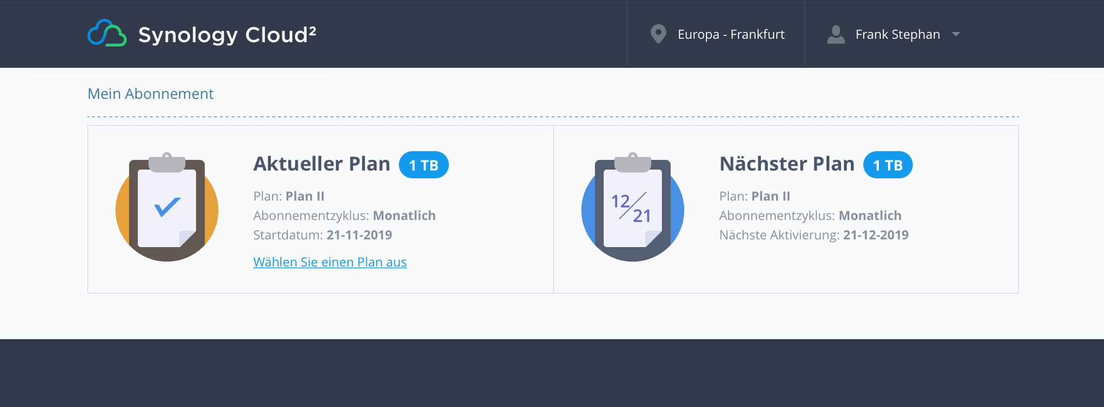 Online-Backup auf die Synology Cloud²